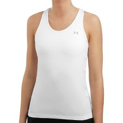 Under Armour Heatgear Racer Tank Top Damen Weiß Silber
