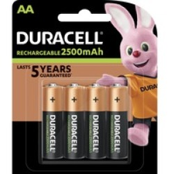 DURACELL StayCharged AA pacchetto da 4 Batteria ricaricabile (Verde Rame)