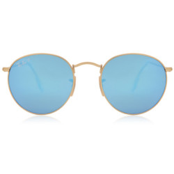 Ray Ban Sonnenbrillen RB3447 Round Flash Lenses Polarized 112 4L