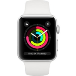APPLE Watch Series 3 38 mm Smartwatch (Bracciale Bianco Cassa Argento)